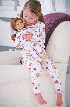 From CWDkids: Girls Ruffle Edge Pajamas in the sheep pattern.  Size 5T
