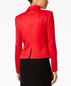 Tommy Hilfiger Twill One-Button Jacket - Blazers - Women - Macy's