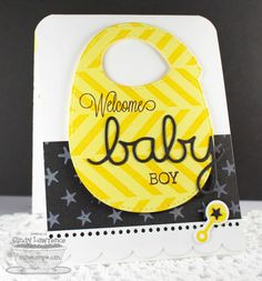 Beautiful Baby, On the Diagonal Background, Star Background, Baby's Bib Die-namics, Oh Baby Die-namics - Cindy Lawrence #mftstamps