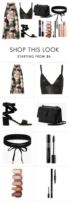 """mnm"" by vi0leta on Polyvore featuring Miss Selfridge, T By Alexander Wang, Yves Saint Laurent, Boohoo, Christian Dior, NYX and Charlotte Tilbury"