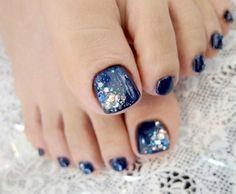 Kristall Zehe Nail Art Design