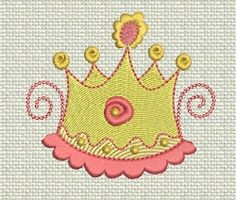 Fit for a Princess- 4 Designs! | Princess | Machine Embroidery Designs | SWAKembroidery.com Designs by Juju