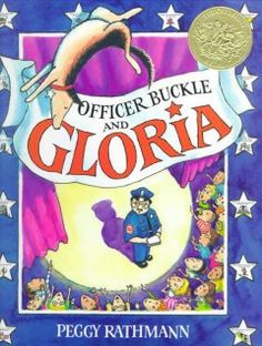 1996 - Officer Buckle and Gloria by Peggy Rathmann - The children at Napville Elementary School always ignore Officer Buckle's safety tips, until a police dog named Gloria accompanies him when he gives his safety speeches.