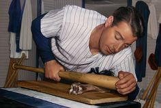 "Joe DiMaggio ""Working the Grain"". John Payne, Joe Dimaggio, Nostalgia, Nyc, Baseball, Celebrities, Artist, Sports, Website"