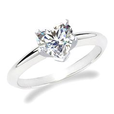 Heart - shaped, simple engagement ring
