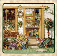 The Flower Shop is Open  by Janet Kruskamp