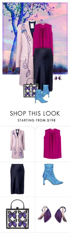 """A Different Fall Palette"" by valeria-meira ❤ liked on Polyvore featuring Roksanda, Etro, Nili Lotan, TIBI, Nancy Gonzalez, statementbags, satinskirt, mohaircoat and satinboots"