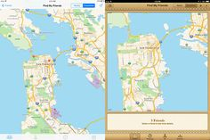 Find My Friends iOS 7. Ios 7 Design, Oakland San Francisco, Find My Friends, Daly City, Maps, Map, Peta, Cards