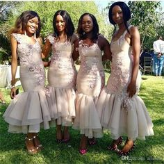 South African Ankle Length Mermaid Bridesmaid Dresses Appliques Flowers Spaghetti Backless Criss Cross Straps Country Maid Of Honor Gowns African Bridesmaid Dresses, Turquoise Bridesmaid Dresses, Mermaid Bridesmaid Dresses, African Wedding Dress, Evening Wedding Guest Dresses, Wedding Dresses, Bridal Gowns, Maid Of Honour Dresses, Marie