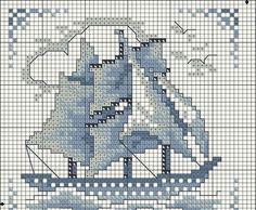 Cross Stitch Thread, Cross Stitch Bookmarks, Cross Stitch Flowers, Cross Stitching, Cross Stitch Embroidery, Cross Stitch Designs, Cross Stitch Patterns, Cross Stitch Landscape, Blue Cross