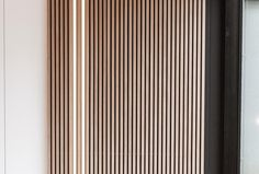 Natural Oak | Maestro Design Interior Walls, Interior Design, Wood Slat Wall, Wall Design, House Design, Timber Slats, Design Awards, House Colors, Dining Area