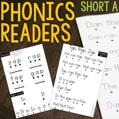 Phonics Readers for the Short A Word Family are perfect for students who are learning to read with phonics patterns. They are highly controlled passages that only contain words within that word family or within a previously taught word family. ★ The passages get progressively longer