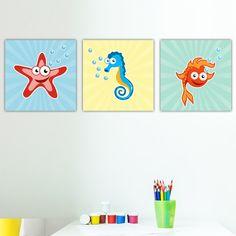 Παιδικοί πίνακες σε καμβά Sea animals Kids Rugs, Painting, Animals, Home Decor, Animales, Decoration Home, Kid Friendly Rugs, Animaux, Room Decor