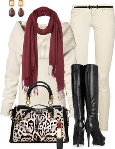 """Wearing Winter White"" by marnifox ❤ liked on Polyvore"
