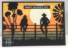 StampOwl's Studio: Dad Birthday Cards For Men, Handmade Birthday Cards, Man Birthday, Handmade Cards, Fathers Day Cards, Happy Fathers Day, Cowboy Theme, Cowboy Art, Australian Christmas Cards