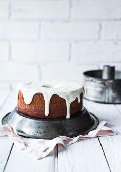 banana butternut squash bundt cake with maple cardamOm glaze