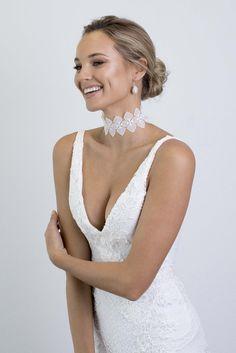 The Bloom Choker & Maya Earrings | Grace Loves Lace | Makeup by Leah Medutis | Hair by The Bride's Mane