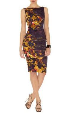 3e12399d0df dillards bcbg, Excellent Karen Millen Feminine Print Dress Purple Multi  Sale tops,popular, bcbg over the knee boots timeless