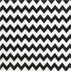 Black & White Chevron Gift Wrap Paper