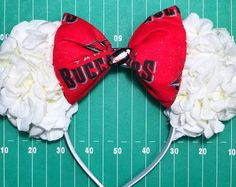 SALE ITEM! Tampa Bay Buccaneers Inspired Floral Mouse Ears