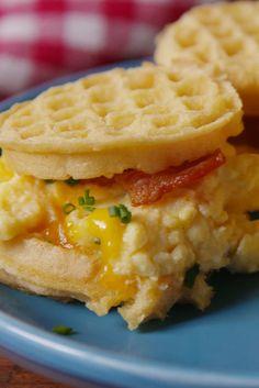 Eggo Breakfast Sliders  - Delish.com