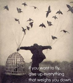 If you want to fly. . .