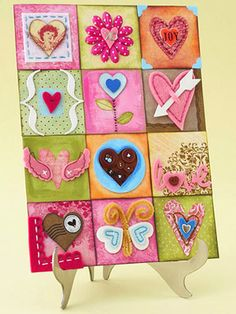 heart collage by scrapbooks, etc.