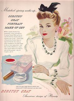 Original 1941 Color Vintage Vogue, Fashion, Magazine Advertisement, Paper Ephemera. beautylaunchpad.com