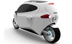 Moto futurista com duas rodas, mas conforto e segurança de carro