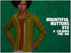 As the GoS easter egg hunt is now over, I thought I might as well release the gift I made for it. (Couldn't tell you where exactly it was hidden though, I'm awful at hunts and didn't find me own gift) Anyway, here's the bountiful buttons jacket from the sims 3 store Mother Russia set converted to sims 2 for AM in eight colours, despite what the preview says because I can't count. Has a fatmorph, and the mesh shouldn't have any problems but if you encounter...