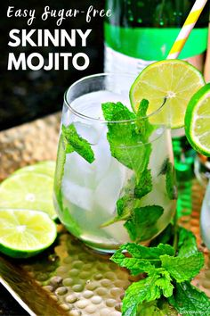A recipe for keto vodka mojito that is sugar-free & low-carb. Includes a few simple ingredients as well as all-natural substitutes for sugar & simple syrup! Low Sugar Alcoholic Drinks, Low Carb Cocktails, Drinks Alcohol Recipes, Yummy Drinks, Drink Recipes, Keto Recipes, Cocktail Recipes, Alcoholic Beverages, Party Recipes