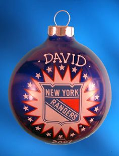 Personalized New York Yankees Christmas Ornament  Disc image