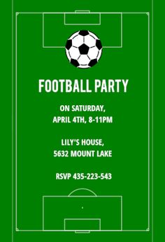 Free Printable Soccer Birthday Party Invitations from ...