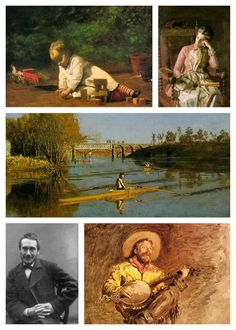 """American realist painter, photographer, sculptor and fine-arts educator, Thomas Eakins, was born in Philadelphia on July 25, 1844. """"Arriving in Paris for study in 1866, Eakins was in the vanguard of young painters who would shift the focus of American art from landscape to the figural subjects favored by the European academies."""" Read more about him and see more of his work at http://www.metmuseum.org/toah/hd/eapa/hd_eapa.htm"""