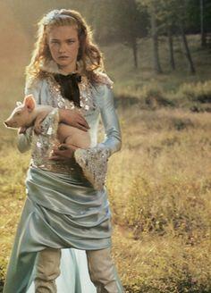 natalia vodianova shot by annie leibovitz for american vogue