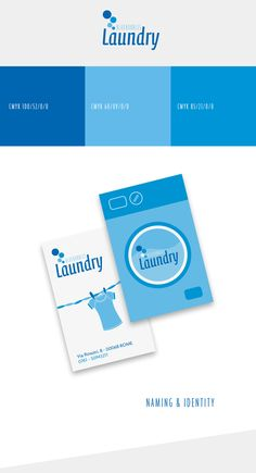 Laundry services business card template design by stocklayouts www brand identity for bluebubbles laundry in rome fbccfo Image collections