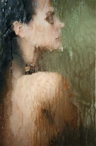 hyper realistic paintings by alyssa monks - shower to distort the image with steam and water Hyper Realistic Paintings, Realistic Drawings, Painting People, Figurative Art, Photo Art, Art Photography, Inspiring Photography, Inspiring Art, Art Gallery