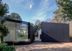 Soup Architects adds two art studios to a leafy Suffolk garden