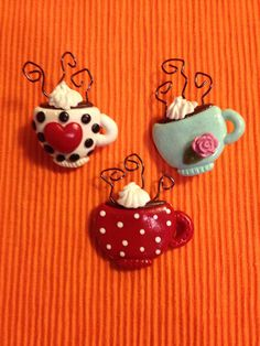 Pin or Magnet Latte polymer clay