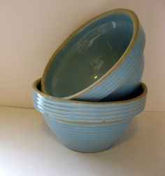 A Pair of Vintage Monmouth Pottery Mixing Bowls. , via Etsy.