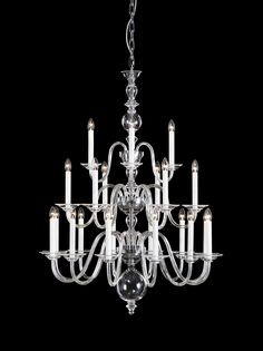 Eugene. This distinctive glass chandelier narrates a rich history of the first full glass-arm chandelier to have ever been crafted in Bohemia. Seeing the light of day in 1724, this iconic piece was not only chosen to light up the Castle Schloss of Austrian Prince Eugene of Savoy, but its timeless appeal destines it to mark its royal presence in any contemporary home. #design #crystal #lighting #chandelier #bohemiancrystal #interior #brilliance #craftsmanship #preciosalighting #flagshipstore