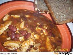 Mexický kuřecí guláš Pot Roast, Chili, French Toast, Oatmeal, Food And Drink, Soup, Beef, Chicken, Breakfast