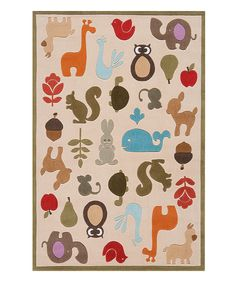 This Ivory Critters Rug by Lil Mo by Momeni Rugs is perfect! #zulilyfinds