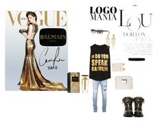#logomania #balmain by jasmina-hrnjicic on Polyvore featuring polyvore fashion style Balmain clothing balmain logomania
