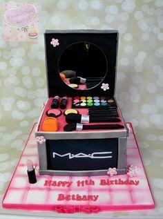 MAC make up cake - Cake by Emmazing Bakes