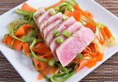 Asian Marinated Tuna with Shaved Salad Posted on May 11, 2015 by PaleoRecipes