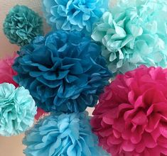 Under the sea party decorations, mermaid party decorations, Frozen Party - 12 Tissue Paper Pom Poms Elsa Anna Olaf Disney Frozen Party Decorations Olaf Party, Colorful Birthday Party, Disney Frozen Party, Frozen Birthday Party, 4th Birthday Parties, Frozen Party Decorations, Baby Shower Decorations For Boys, Diy Wedding Decorations, Wedding Favors