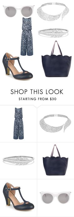 """""""Untitled #3159"""" by bellagioia ❤ liked on Polyvore featuring Thakoon, Messika, Stephen Webster, Deux Lux, Journee Collection and Alexander McQueen"""