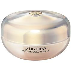 Shiseido Future Solution LX Total Radiance Loose Powder (255 MYR) ❤ liked on Polyvore featuring beauty products, makeup, face makeup, face powder, loose face powder, shiseido and shiseido face powder