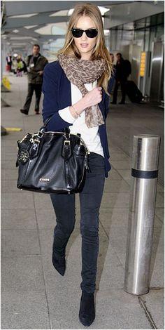 Rosie Huntington Whiteley airport style